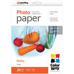 "ColorWay Matte Photo Paper (8.5 x 11"", 20 Sheets, 190 gsm)"