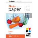 "ColorWay Matte Photo Paper (8.5 x 11"", 50 Sheets, 190 gsm)"