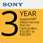 Sony 3-Year SupportNET Depot Service Plan for Cameras 25,001 to $30,000