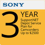 Sony 3-Year SupportNET Depot Service Plan for Cameras Up to $2500