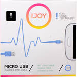 iJOY USB Type-A to Micro-USB Flat Charge & Sync Cable (6', Blue)