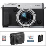 Fujifilm X30 Digital Camera Deluxe Kit (Silver)