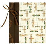 "Lineco Ribbon Bound Album with Ivory Pages Kit (Dragonflies Cover, 9.75 x 11"")"