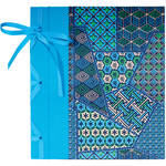 "Lineco Ribbon Bound Album with Ivory Pages Kit (Blue Geometric Cover, 9.75 x 11"")"