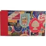 "Lineco Post Bound Album with Ivory Pages Kit (Travel Stickers Cover, 9.75 x 5.5"")"
