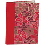 "Lineco Blank Book Kit with Ivory Pages (Pink-red Flower Cover, 5.25 x 7.25"")"