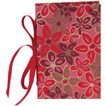 "Lineco Tibetan Books Kit (Set of 2, Pink-Red Flower Cover, 4.25 x 6.5"" & 5 x 7.5"")"