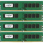 Crucial 16GB DDR4 2400 MHz UDIMM Memory Kit (4 x 4GB)