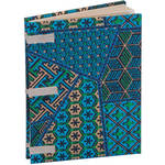 "Lineco Linen Tape Journal Kit with Ivory Pages (Blue Geometric Cover, 5 x 7"")"