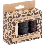 Lineco 20 yd Spool of Waxed Linen Thread for Hand-Sewn Bookbinding (Set of 3 Natural, Black, Brown)