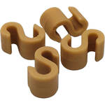 Point Source Audio S-Clip for Dual Headset Style Microphone (4-Pack, Beige)