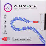 iJOY Coiled Lightning to USB 2.0 Cable (3', Blue)