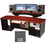 Omnirax Force 24 Multi-Purpose Mixing / Digital Editing / Audio Video Workstation (Storm Cirrus Formica)