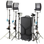 Cool-Lux LK2347 Hollywood Combo Studio Interview Kit with Carrying Case