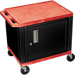 "Luxor 24.5"" Tuffy Cart with Cabinet and Electrical Assembly (Red)"