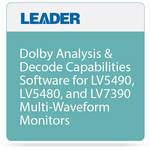 Leader Dolby Analysis & Decode Option for LV5490, LV5480, & LV7390 Monitors