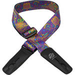 "Lock-It 2"" Bob Masse Series Blue Journey Guitar Strap"