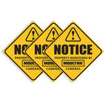 Moultrie Camera Surveillance Signs (3-Pack)