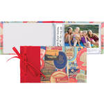 "Lineco Ribbon-Bound Brag Book Kit (Travel Stickers, 6.75 x 4.7"")"