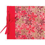 "Lineco Ribbon Bound Album with Top Load Pages (Pink-Red Flower Cover, 9 x 10"")"