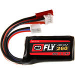 Venom Group Fly 30C 2S 260mAh LiPo Battery with JST & E-Flite JST-PH Connectors (7.4V, 60C/15.6A Maximum Burst Rate)
