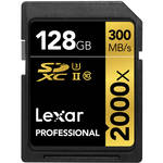 Lexar 128GB Professional 2000x UHS-II SDXC Memory Card with SD UHS-II Reader (U3, Class 10)
