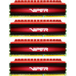 Patriot 16GB Viper 4 DDR4 3200 MHz DIMM Memory Kit (4 x 4GB, Black/Red)