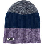 Neff Trio Beanie (Purple/Navy/Blue)