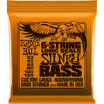 Ernie Ball Long Scale Slinky Nickel Wound Electric Bass Strings (6-String Set, .032 - .130)