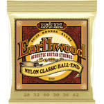 Ernie Ball Earthwood 80/20 Bronze Folk Nylon Acoustic Guitar Strings with Ball Ends (Medium Tension, 28 - 42)