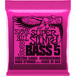 Ernie Ball Super Slinky Nickel Wound Electric Bass Strings (5-String Set, .040 - .125)