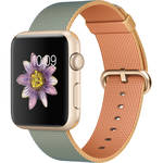 Apple Watch Sport 42mm Smartwatch (2015, Gold Aluminum Case, Gold/Royal Blue Woven Nylon Band)