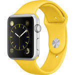 Apple Watch Sport 42mm Smartwatch (2015, Silver Aluminum Case, Yellow Sport Band)