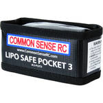 "COMMON SENSE RC LiPo Safe Pocket 3 Charging/Storage Bag for 3S LiPo Battery (5.0 x 2.5 x 2.0"")"