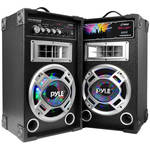 "Pyle Pro Disco Jam Dual 8"" Bookshelf Tower Stereo Speaker System"