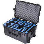 Go Professional Cases GPC-DJI-INSPIRE-1-L-X5 Watertight Hard Case with Wheels for DJI Inspire 1 in Landing Mode