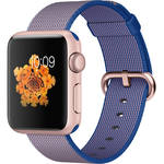 Apple Watch Sport 38mm Smartwatch (2015, Rose Gold Aluminum Case, Royal Blue Woven Nylon Band)
