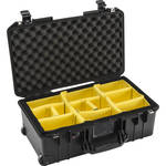 Pelican 1535AirWD Wheeled Carry-On Case (Black, with Dividers)
