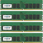 Crucial 64GB DDR4 2400 MHz UDIMM Memory Kit (4 x 16GB)