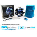 360RIZE Pro10 v2 360 Plug-n-Play Holder Kit with 360CamMan and Video-Stitch Studio