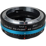 FotodioX Vizelex ND Throttle Canon FD (New FD, FL) to Fujifilm X-Series Mirrorless Camera Lens Mount Adapter with Built-in Variable ND Filter