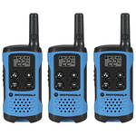 Motorola T100TP Two-Way Radio (Blue, 3-Pack)