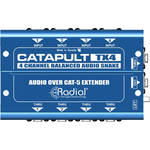 Radial Engineering Catapult TX4 4-Channel Cat 5 Snake for Audio/AES Routing (Transmitter)