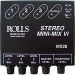 Rolls MX28 Mini-Mix VI Compact Stereo Line Mixer