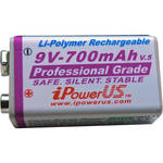 iPower 9V LiPo Professional Grade Rechargeable Battery (700mAh)