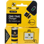 mobeego Single Shot Battery Power for Micro USB Powered Smartphones (1 Can & Reusable Micro/Mini-USB Adapter)
