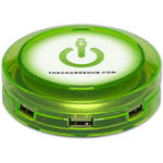 ChargeHub 7-Port USB Universal Charging Station (Round, Green)