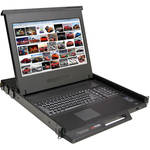 "Rose Electronics RackView KVM Rack Drawer with 17"" LCD Monitor"