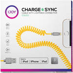 iJOY Coiled Lightning to USB 2.0 Cable (3', Yellow)