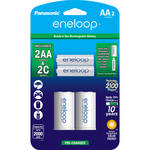Panasonic Eneloop Rechargeable AA Ni-MH Batteries with C Spacers (2000mAh, Pack of 2)